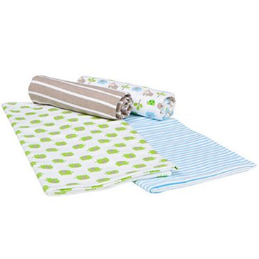 Gerber Baby Boys' 4-Pack Receiving Blankets