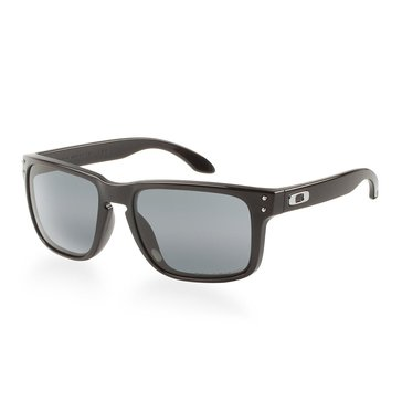 Oakley Unisex Holbrook Polished Black with Grey Polarized Sunglasses 55mm