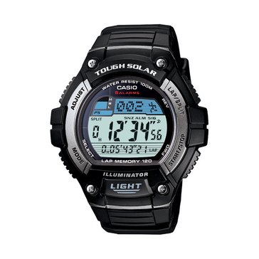 Casio Men's Tough Solar Runner's Watch WS220-1AV, Black