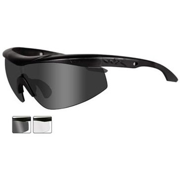 Wiley X Men's WX Talon Tactical Glasses With Smoke Grey And Clear Lenses