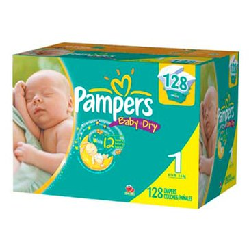 Pampers Baby Dry - Size 1, Super Pack 120-Count
