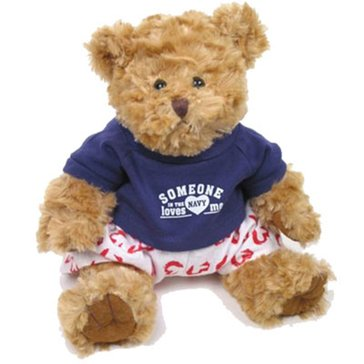 Chelsea Teddy Bear Co USN Bear with Heart Boxers And Tee