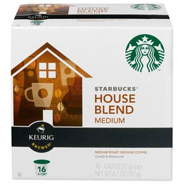 Starbucks House Blend K-Cup Pods, 16-Count