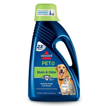 Bissell 2X Pet Stain & Odor Upright Carpet Cleaning Formula, 60 Oz (99K52)