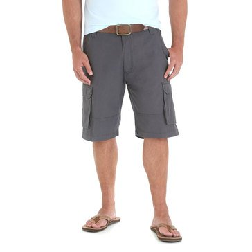 Wrangler Men's Clearwater Ripstop Cargo Shorts in Charcoal