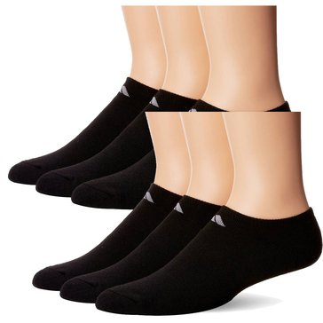 Adidas Men's Climalite Cushion 6-Pack No Show Socks