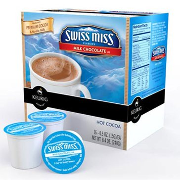 Swiss Miss Milk Chocolate Hot Cocoa K-Cup Pods, 16-Count