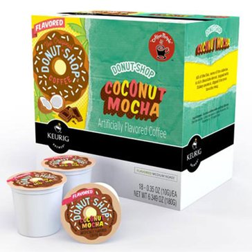 Coffee People Donut Shop Coffee Coconut Mocha K-Cup Pods, 18-Count