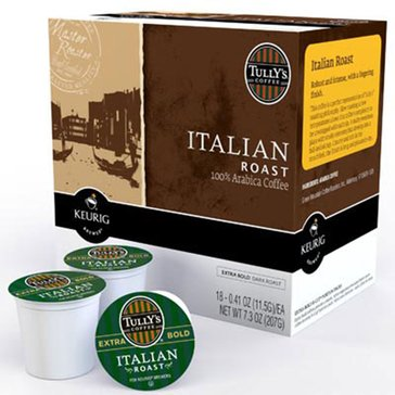 Tully's Italian Roast K-Cup Pods, 18-Count