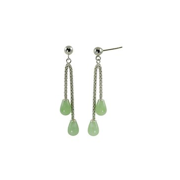 Sterling Silver Dyed Jade Dangle Earrings