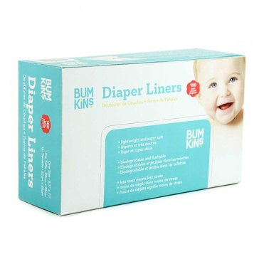 Bumkins Flushable Diaper Liner, 100-Pack