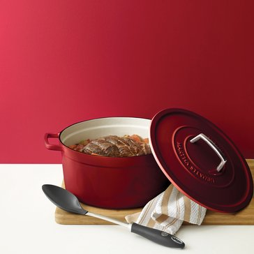 Martha Stewart Collection Enameled Cast Iron 8-Quart Casserole, Red