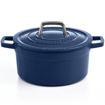 Martha Stewart Collection Enameled Cast Iron 6-Quart Casserole, Blue