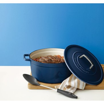 Martha Stewart Collection Enameled Cast Iron 8-Quart Casserole, Blue