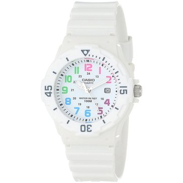 Casio Women's Analog Watch LRW200H-7B, Multi/ Gloss White 39mm