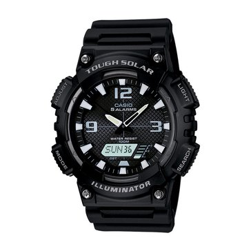 Casio Men's Tough White/Black Solar Sport Watch, 52mm