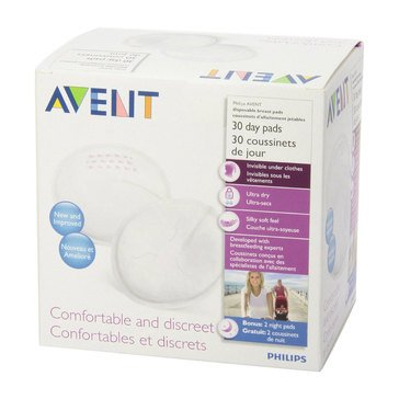 Avent Day Breast Pads, 30-Count