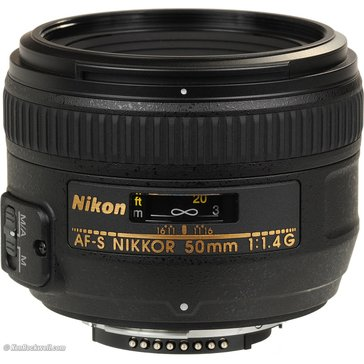 Nikon 50mm f/1.8G Auto Focus-S NIKKOR FX Lens for Nikon Digital SLR Cameras
