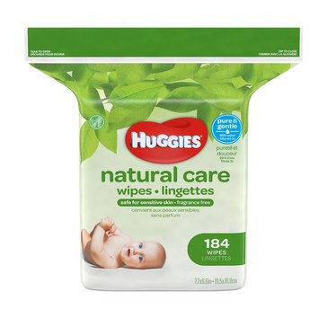 Huggies Natural Care Unscented Baby Wipes, 184-Count