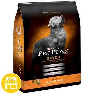 Pro Plan Savor Shredded Blend Dog Chicken Rice Dry Dog Food, 35 lbs.