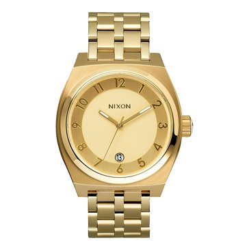 Nixon Unisex Monopoly Watch A325-502, All Gold 40mm