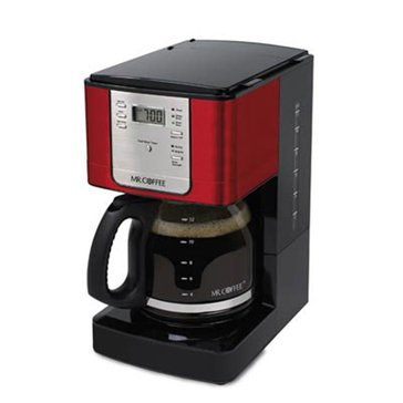 Mr. Coffee Advanced Brew 12-Cup Programmable Coffee Maker, Red (JWX36-NP)