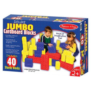 Melissa & Doug Deluxe Jumbo Cardboard Blocks - 40 Pieces