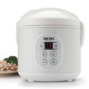 Aroma Digital Cool-Touch Rice Cooker & Food Steamer, 8-Cup (ARC-914D)