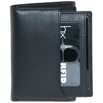 Buxton Houston RFID Wallet - ID Trifold- Black