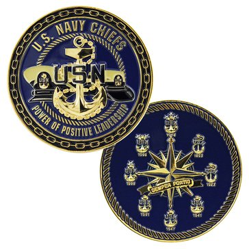 Eagle Crest USN Chief Compass Coin