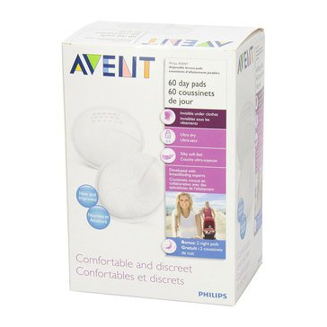 Avent Day Breast Pads, 60-Count