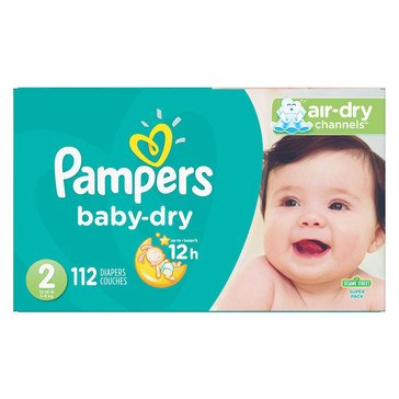 Pampers Baby Dry - Size 2, Super Pack 112-Count