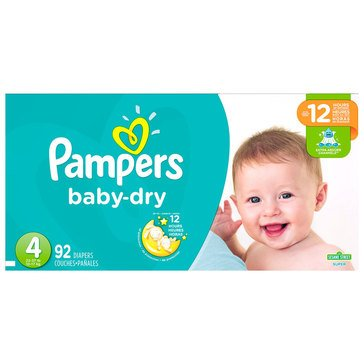 Pampers Baby Dry - Size 4, Super Pack 92-Count