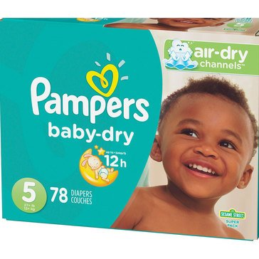 Pampers Baby Dry - Size 5, Super Pack 78-Count