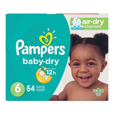 Pampers Baby Dry - Size 6, Super Pack 64-Count