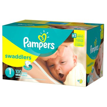 Pampers Swaddlers Super Pack 96-Count Diapers, Size 1