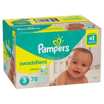 Pampers Swaddlers Super Pack 79-Count Diapers, Size 3
