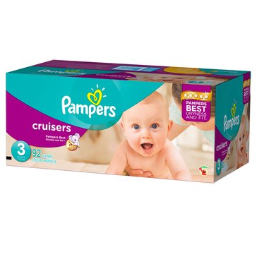 Pampers Cruisers Super-Pack 84-Count Diapers, Size 3