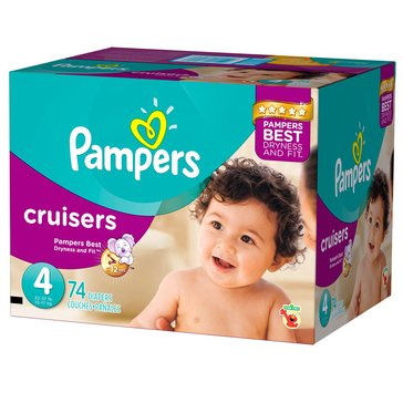 Pampers Cruisers Super-Pack 70-Count Diapers, Size 4
