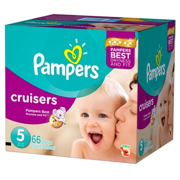 Pampers Cruisers Super-Pack 60-Count Diapers, Size 5