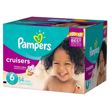 Pampers Cruisers Super-Pack 52-Count Diapers, Size 6
