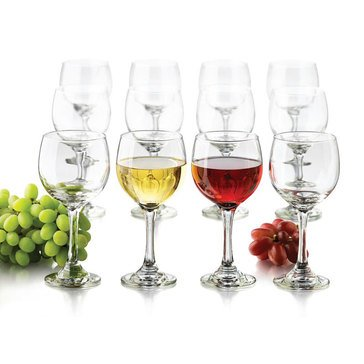 Libbey Wine Glasses, Set of 12
