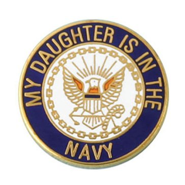 MP MY DAUGHTER IS IN THE NAVY LAPEL PIN_D