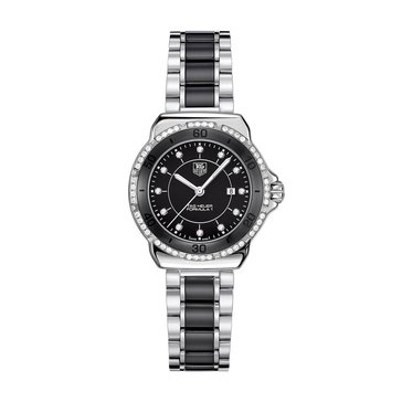 Tag Heuer Women's Formula 1 Watch WAH1312.BA0867, Diamond & Black Ceramic/ Polished Steel 32mm