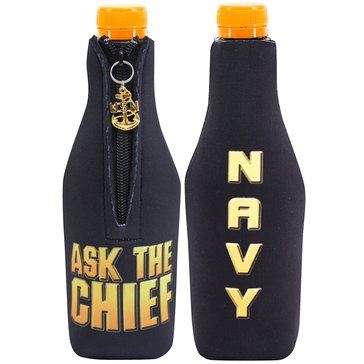 Vanguard USN CPO Bottle Koozie Ask The Chief With Anchor - Black