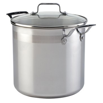 Emeril by All-Clad Chef's Stainless Steel Stockpot with Lid, 8-Quart, Silver