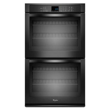 Whirlpool 10-Cu.Ft. Double Wall Oven w/ X-Large Oven Window, Black (WOD51EC0AB)