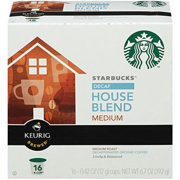 Starbucks Decaf House Blend K-Cup Pods, 16-Count
