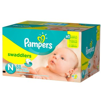 Pampers Swaddlers Super-Pack 84-Count Diapers, Size Newborn