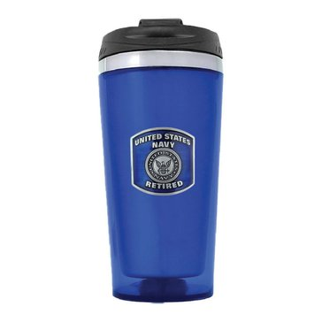 Sparta USN Retired Blue Travel Mug
